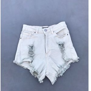 Ultra High Rise Jean Shorts